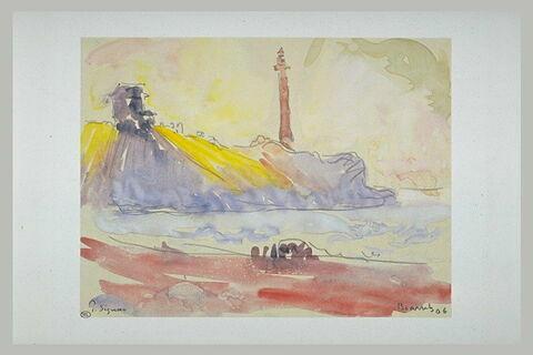 Le phare de Biarritz en 1906