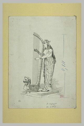 Musicienne d'Egypte, d'après une sculpture de Cordier