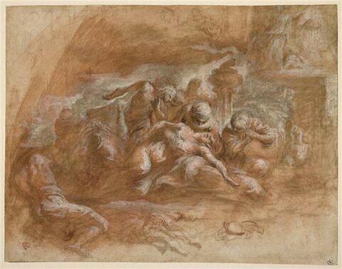 Sujet antique : la mort de Méléagre (?)