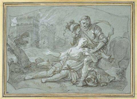 Clorinde mourante baptisée par Tancrède