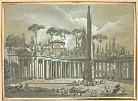 Vue de la Colonnade Saint-Pierre et du Vatican