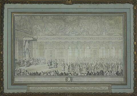 Audience publique donnée par le roi Louis XV à l'ambassadeur de Turquie