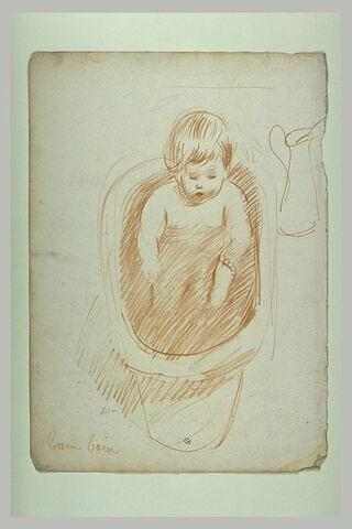 Paulette bébé, dans son bain