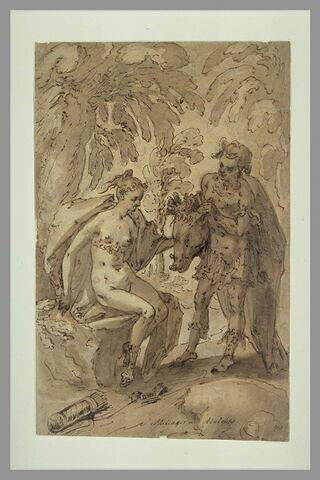 Méléagre offre à Atalante la hure du sanglier d'Artémis