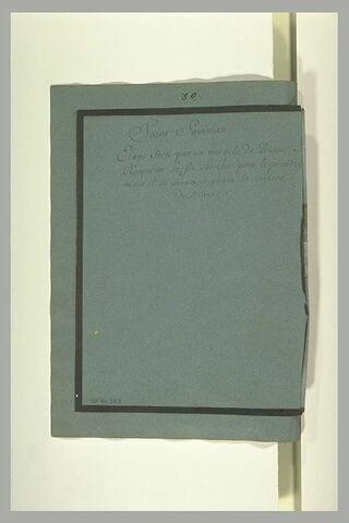 Annotation manuscrite : 'Saint Savinian...'