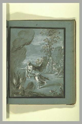 Sainte Appoline se précipitant dans un bucher