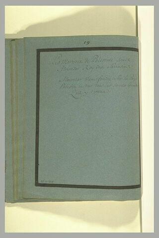 Annotation manuscrite : 'Les martyres de Palestine sous Almondard (sic)'
