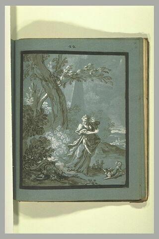 Sainte Marguerite de Costonne découvrant son amant mort