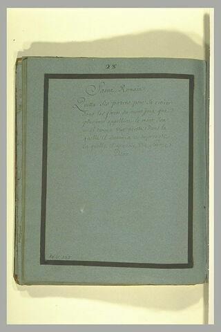 Annotation manuscrite : 'saint Romain...'