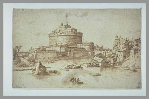 Vue du château Saint Ange à Rome