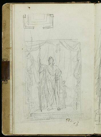 Etude pour le 'Portrait de l'Empereur en costume impérial'