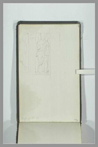 Détail de figures sculptées de Saint-Gilles