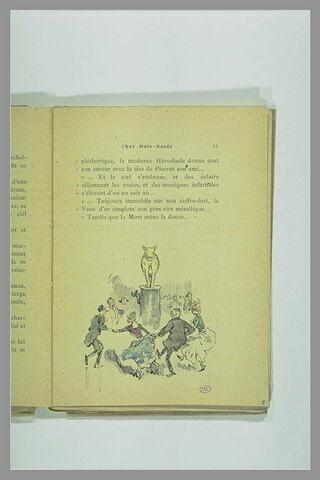 Page 15 du Chat Noir - Guide : figures dansant autour du Veau d'or