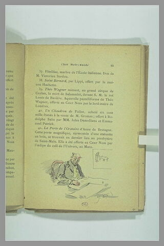 Page 33 du Chat Noir - Guide : homme devant une table et lisant un journal