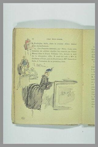 Page 56 du Chat Noir - Guide : jeune femme regardant un tableau