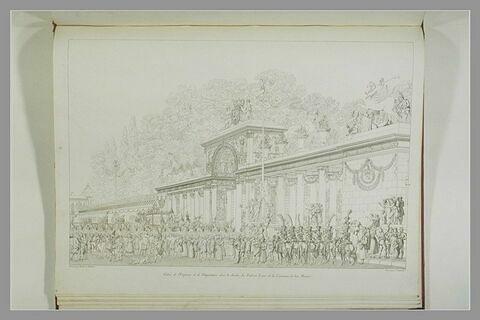 Entrée de l'Empereur et de l'Impératrice dans le jardin des Tuileries