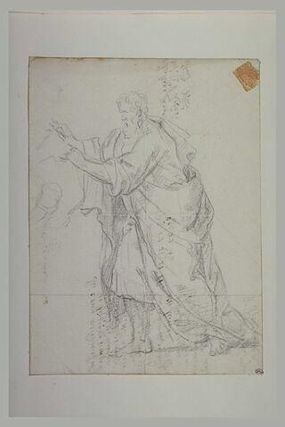 Etude de vieillard drapé : saint Matthieu