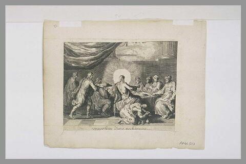 Marie Madeleine lavant les pieds du Christ : 'Conversion d'une pêcheresse'