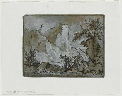 Le Diable tente Jésus jeûnant dans le désert, sur la montagne