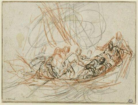 Jésus apaisant la tempête ou la vocation de Simon-Pierre et André