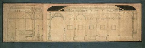 Projet de décoration de la Galerie Etrusque pour l'Escurial