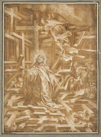 Le Christ au milieu des croix