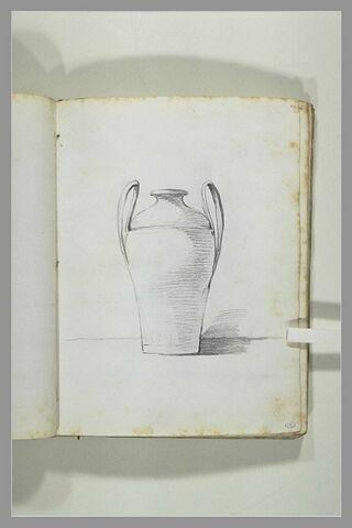 Etude de vase couvert à anses cintrées et inclinées...