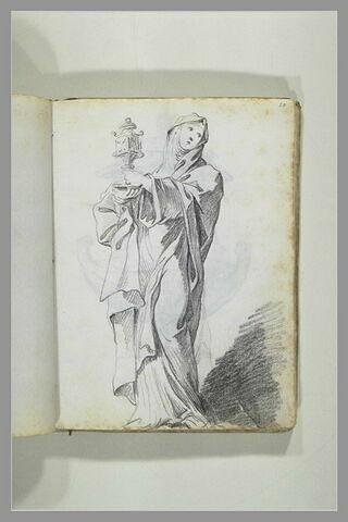 Sainte Claire tendant la monstrance