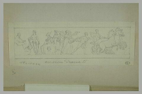 Frise antique avec Eschyle