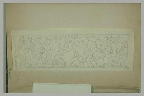 Frise antique avec l'enlèvement de Proserpine