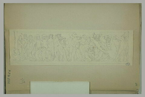 Frise antique avec les noces de Pirithoos et Hippodamie
