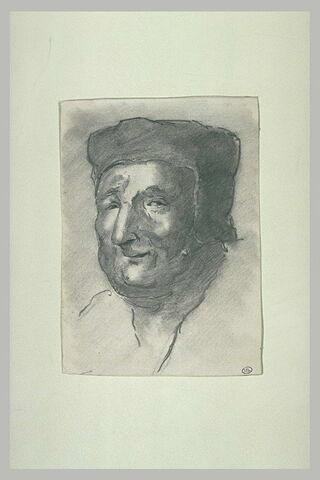 Tête d'homme avec bonnet médiéval