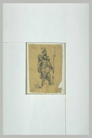 Soldat avec baïonette et sac au dos