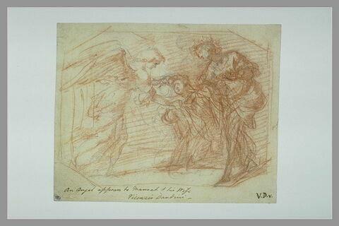 L'ange apparaissant à Sainte Cécile et saint Valérien