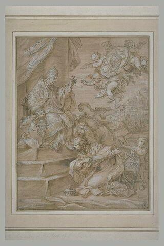 Le pape Innocent XI recevant l'ambassadeur Lord Castelmaine