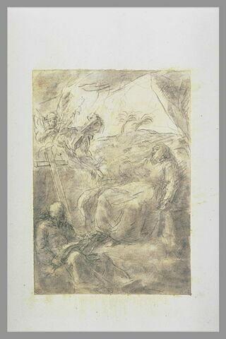 Saint François d'Assise et frère Léon dans le désert