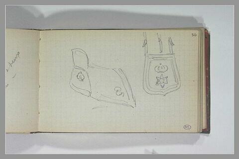 Etude de deux objets de cuir
