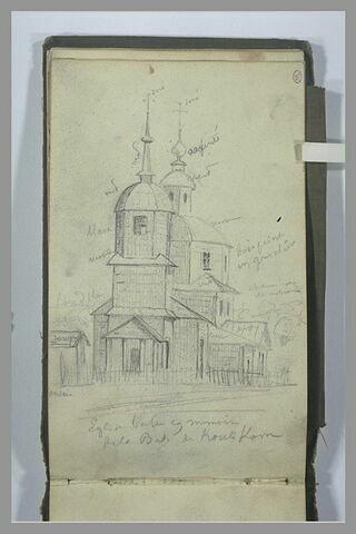 Eglise d'une ville de Russie