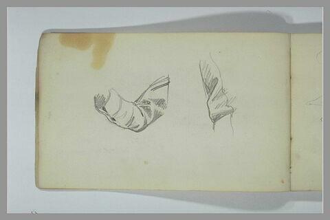 Etude d'un bras plié : manche