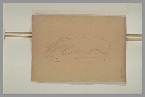 Etude au trait, d'après le plâtre d'une main droite