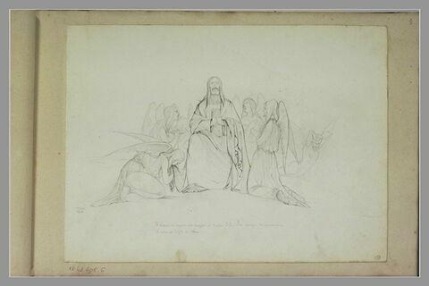 Les anges se prosternant devant le Christ