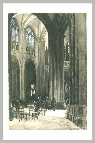 Clermont-Ferrand, cathédrale Notre-Dame, extrémité ouest de la nef