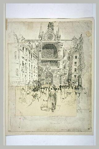 Paris, cathédrale Notre-Dame : la rosace du transept sud
