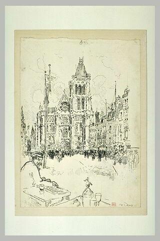 Saint-Denis, façade principale de la basilique