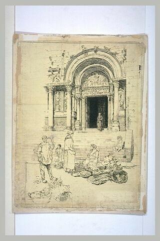 Saint-Gilles, la porte latérale du portail sud