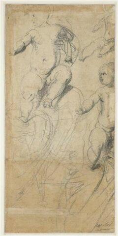 Trois études de l'Enfant Jésus assis sur les genoux de la Vierge