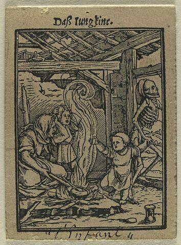 La Mort arrachant un petit garçon à ses parents