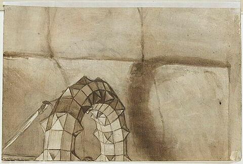 Fragment de structure géométrique d'un mazzocchio