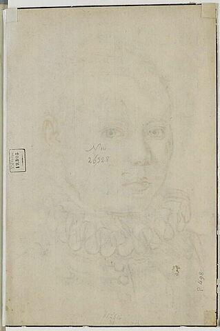 Portrait d'homme portant une fraise