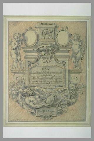 Projet pour un monument funéraire à la mémoire de la famille Van den Broeck